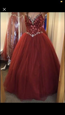 Queenly size 10  Red Ball gown evening gown/formal dress