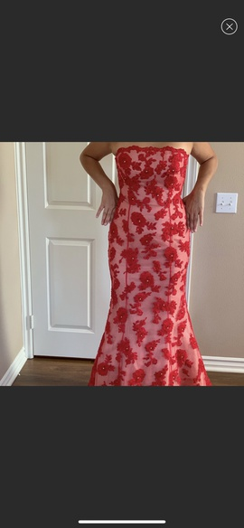Queenly size 10 Jovani Red Ball gown evening gown/formal dress