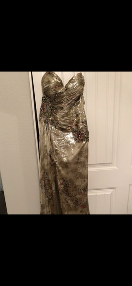Terani Couture Multicolor Size 8 Prom Side slit Dress on Queenly