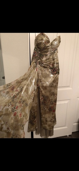 Queenly size 8 Terani Couture Multicolor Side slit evening gown/formal dress