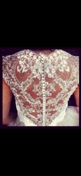 Allure Bridals White Size 6 Custom Wedding Sequin Ball gown on Queenly