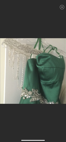 Angela & Alison Green Size 2 Custom Ball gown on Queenly