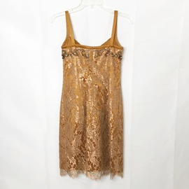 Escada Couture Gold Size 4 Homecoming Cocktail Dress on Queenly