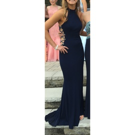 Queenly size 2 Faviana Blue Straight evening gown/formal dress