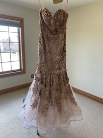 Mac Duggal Pink Size 6 Sweetheart Sheer Ball gown on Queenly
