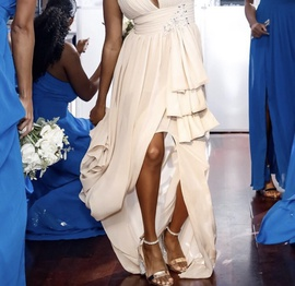 Nude Size 4 Train Dress on Queenly