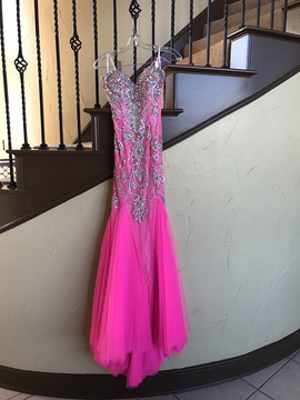 Queenly size 2 Mac Duggal Pink Ball gown evening gown/formal dress