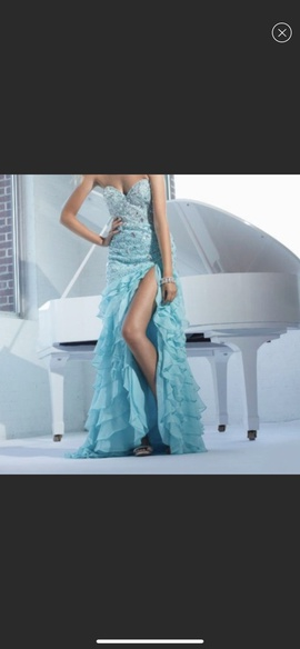 Queenly size 4 Terani Couture Blue Ball gown evening gown/formal dress