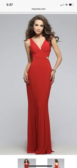 Queenly size 8 Faviana Red Cocktail evening gown/formal dress