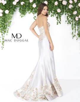 Mac Duggal Multicolor Size 6 Train Mermaid Dress on Queenly