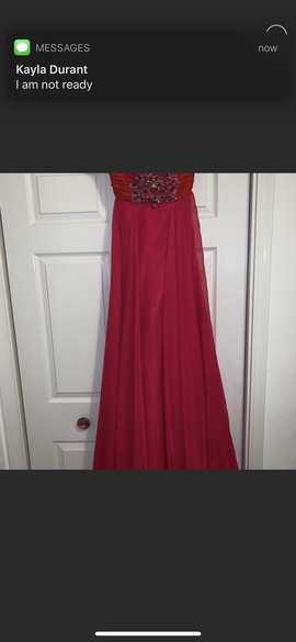 Sherri Hill Pink Size 10 Prom Red Straight Dress on Queenly