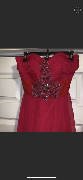 Queenly size 10 Sherri Hill Pink Straight evening gown/formal dress