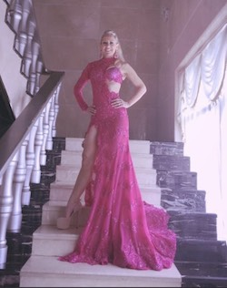 Joey Galon Pink Size 2 Sleeves Side Slit One Shoulder Cut Out Mermaid Dress on Queenly