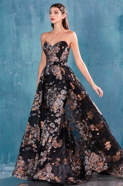 Black Size 14 Ball gown on Queenly