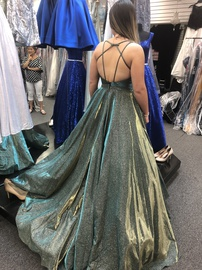 Sherri Hill Multicolor Size 4 Shiny Backless Ball gown on Queenly