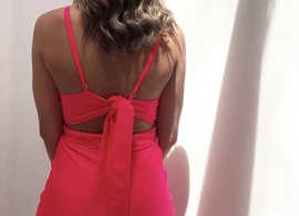 Alyce Paris Pink Size 0 Short Height Custom Medium Height Side slit Dress on Queenly