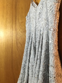 Speechless Silver Size 16 Plus Size Lace Shiny Cocktail Dress on Queenly