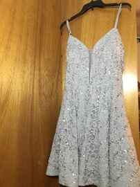 Queenly size 16 Speechless Silver Cocktail evening gown/formal dress