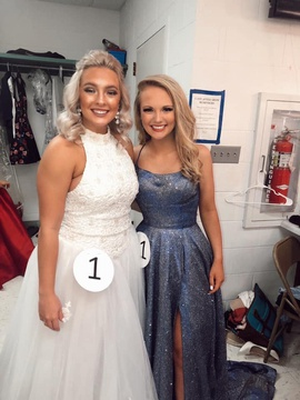 Sherri Hill Blue Size 6 Medium Height Side slit Dress on Queenly