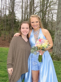 Sherri Hill Blue Size 6 Prom Lace High Low Train Dress on Queenly