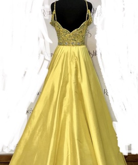Sherri Hill Yellow Size 6 Pageant Custom Ball gown on Queenly