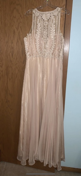 Nude Size 12 Straight Dress on Queenly
