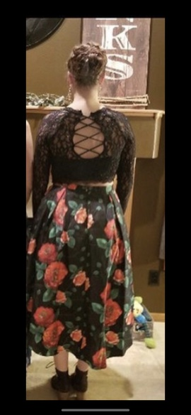 Black Size 14 Train Dress on Queenly