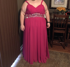 Queenly size 26  Pink Straight evening gown/formal dress