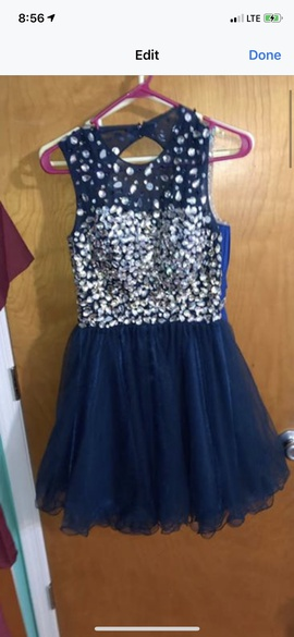 Queenly size 0  Blue Cocktail evening gown/formal dress