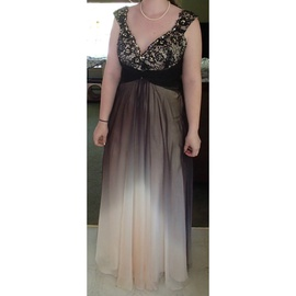 Queenly size 14  Multicolor Straight evening gown/formal dress