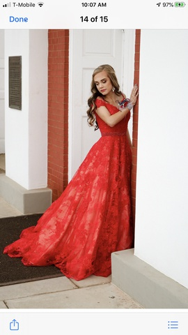 Sherri Hill Red Size 0 Lace A-line Dress on Queenly