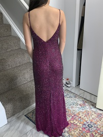 Sherri Hill Purple Size 0 Short Height Train Dress on Queenly