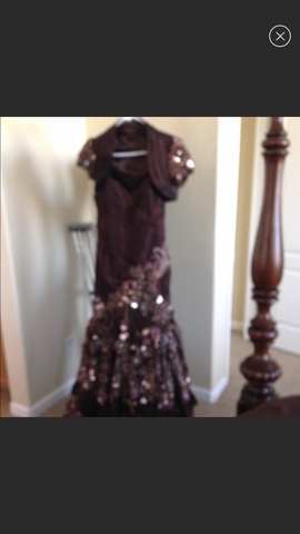 Mac Duggal Multicolor Size 8 Beaded Ball gown on Queenly