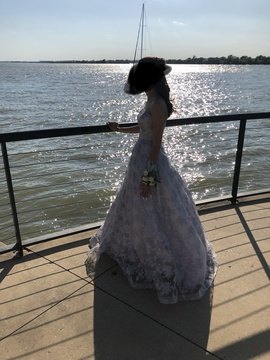 Silver Size 00 Ball gown on Queenly