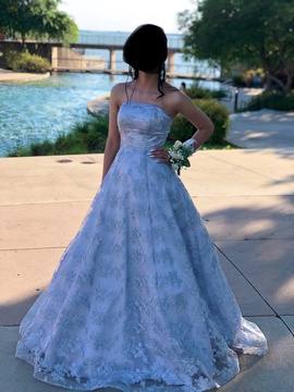 Queenly size 00  Silver Ball gown evening gown/formal dress
