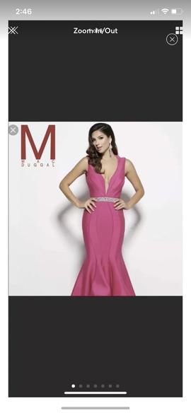Queenly size 6 Mac Duggal Pink Mermaid evening gown/formal dress