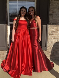 Queenly size 14  Red Ball gown evening gown/formal dress