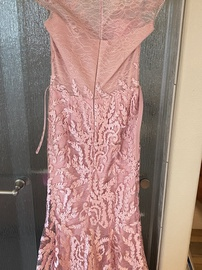 Saiid Kobeisy Pink Size 6 Sheer Overskirt Train Lace Mermaid Dress on Queenly