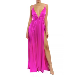 Luxxel Pink Size 4 Plunge Side slit Dress on Queenly