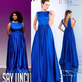 Mac Duggal Blue Size 10 A-line Dress on Queenly