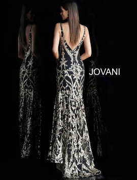 Jovani Black Size 8 Prom Straight Dress on Queenly