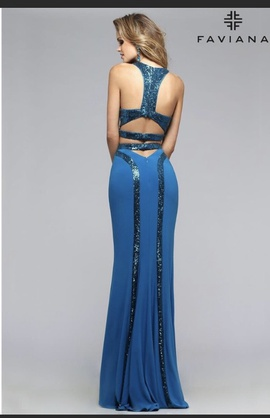 Blue Size 12 Straight Dress on Queenly