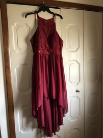 Queenly size 16  Red Train evening gown/formal dress