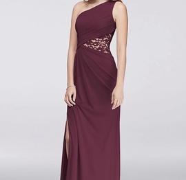 David's Bridal Purple Size 0 Side slit Dress on Queenly