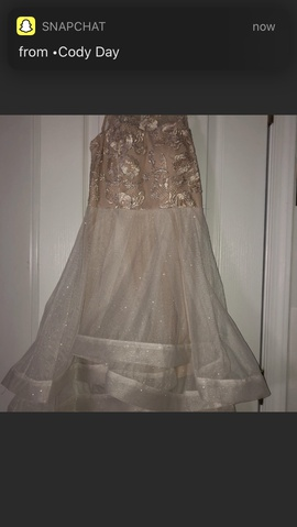Xtraordinary Gold Size 2 Flare Shiny Ball gown on Queenly