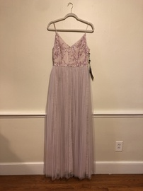 Queenly size 8 Adrianna Papell Pink Ball gown evening gown/formal dress