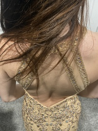 Faviana Nude Size 2 Jewelled Backless Sequin Ball gown on Queenly