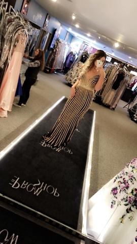 Jovani Black Size 4 Pattern Train Jovani Straight Dress on Queenly