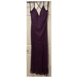 Queenly size 16  Purple Side slit evening gown/formal dress