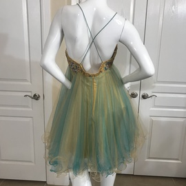 Terani Couture Multicolor Size 12 Jewelled Sequin Cocktail Dress on Queenly